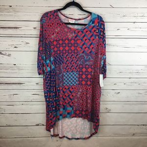 NWT! Lularoe Red Blue and Gold Irma Shirt